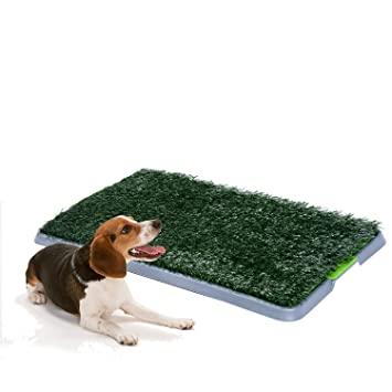 PawHut Indoor Dog Toilet Puppy Cat Pet Training Mat Potty Tray Grass ...