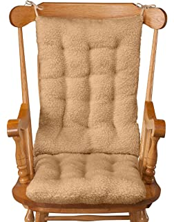 WalterDrake Sherpa Rocking Chair Cushion Set, Camel