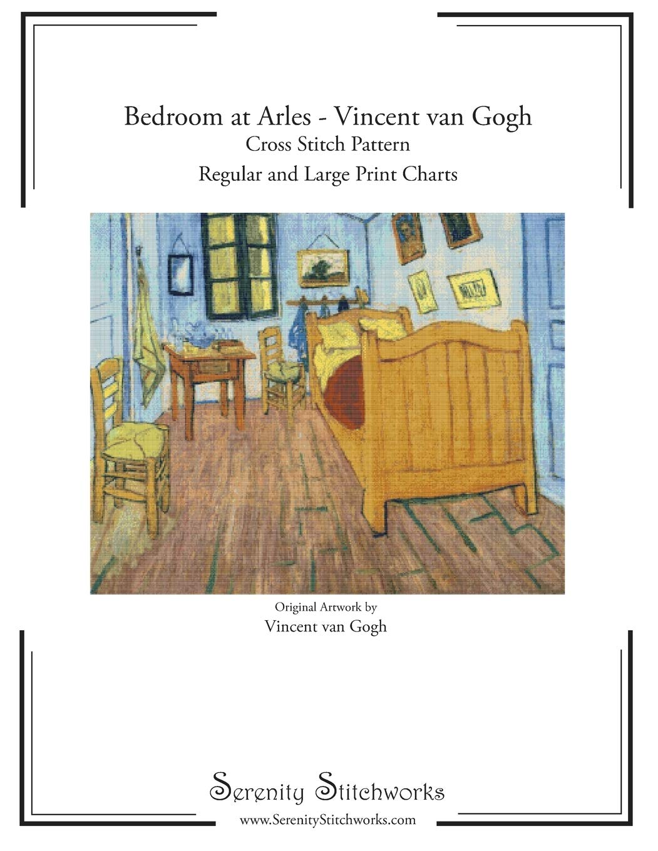 Bedroom At Arles Vincent Van Gogh Cross Stitch Pattern Regular And Large Print Cross Stitch Pattern Stitchworks Serenity 9781730955105 Amazon Com Books,Kitchen Garden Window Shelf