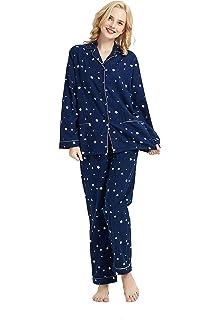 bdd8784bd6cd GLOBAL Comfy Pajamas for Women 2-Piece Warm and Cozy Flannel Pj Set of  Loungewear