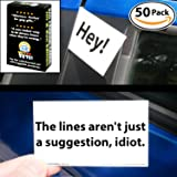 Bad Parking Cards 50 Note Pack. 5 Fun Designs For A Funny Gag Gift Or Prank Set