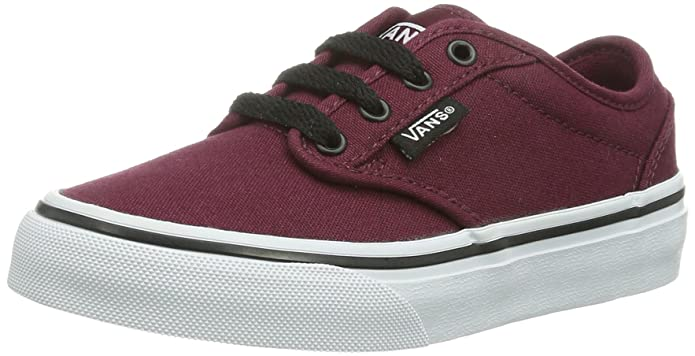Vans Atwood Unisex-Kinder Sneakers Rot ((Canvas) Oxbloo Ddu)