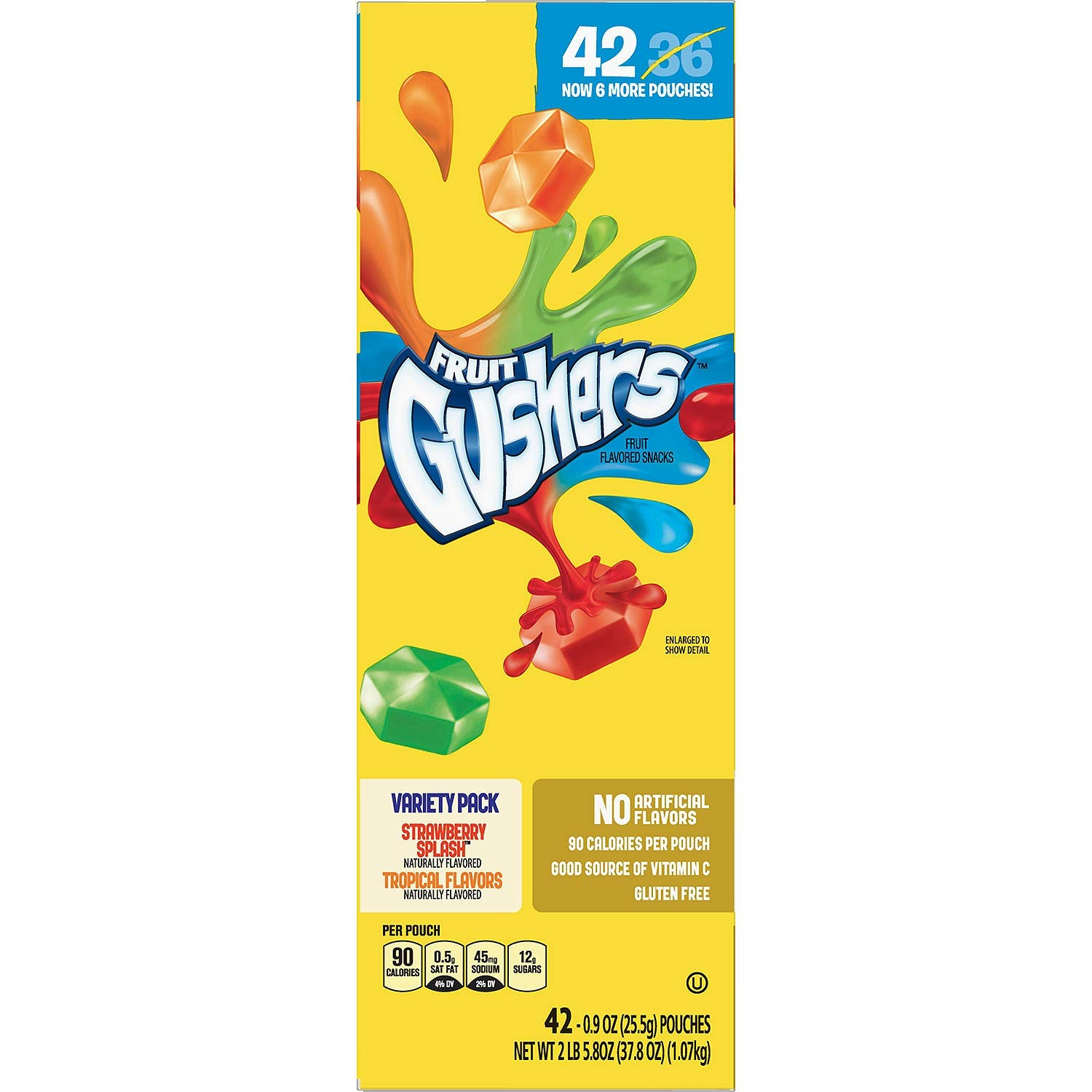Fruit Gushers Variety Pack, Strawberry Splash and Tropical 42 ct. (pack of 4) A1 by Gushers (Image #2)