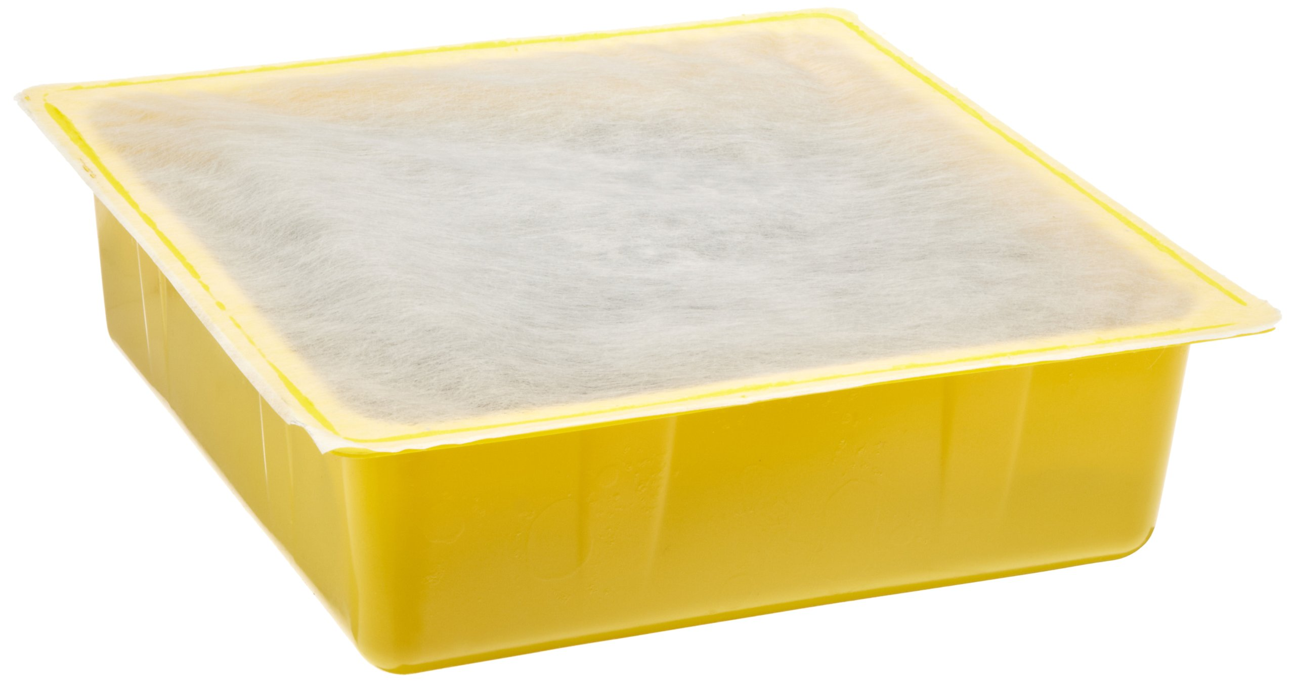 Eagle 1670 Polyethylene Drip Pan, 10-1/2'' ID x 10-1/2'' OD x 3'' Height, Yellow (Case of 12)