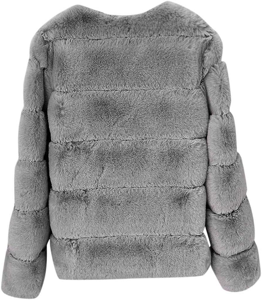 ZEELIY Damen Mantel Revers Faux Wolle F/ür Lose Langarm Jacke Outwear Offene Cardigan Winterjacke Frauen Mode Lang-Fleece Coat Elegant Warm Fellmantel Wintermantel Parka Trenchcoat