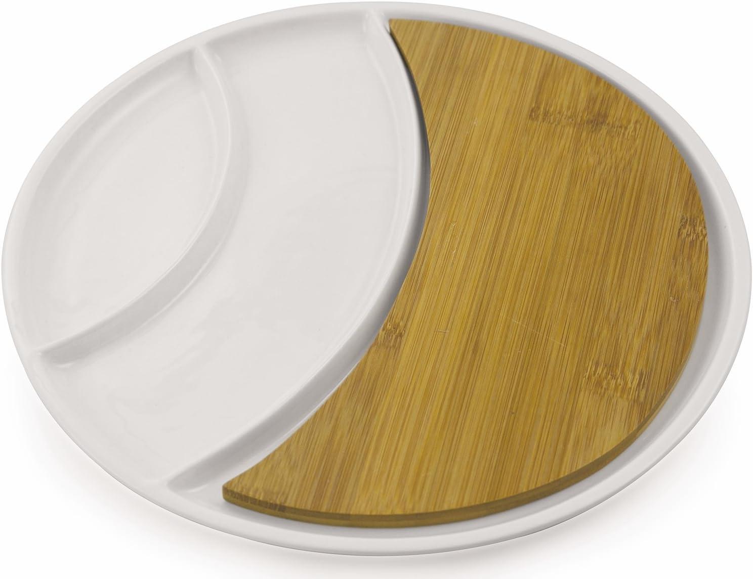 Ceramica Villa d/'Este Home Tivoli Gourmet Vassoio Piccolo Rettangolare Bianco