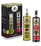 Ellora Farms | GIFT SET | 100% Pure and Traceable | Extra Virgin Olive Oil and Balsamic Vinegar in Spray Bottle Gift Pack | Born in Greece | 3.38oz.X 2 (1 Set)