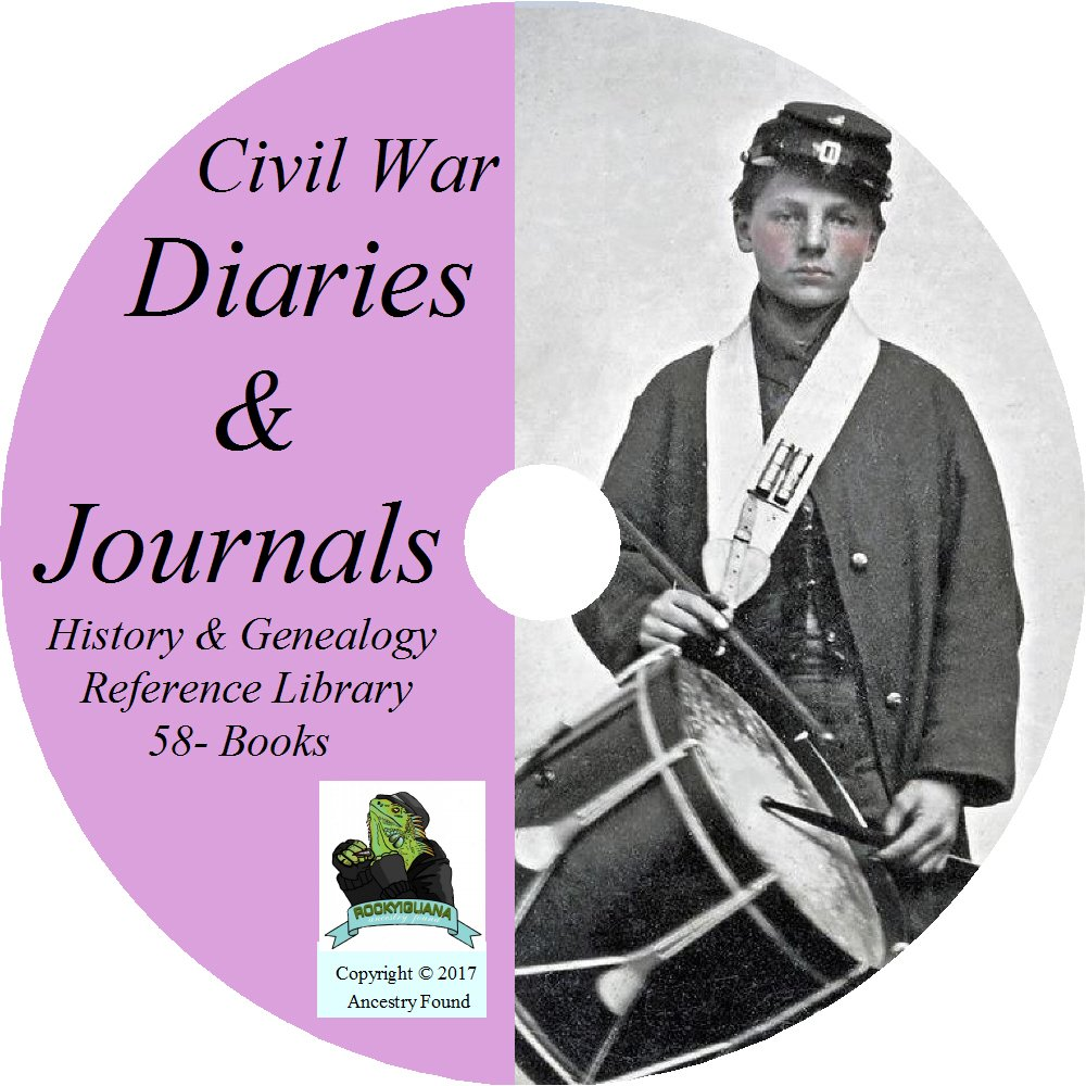 Download Civil War DIARIES AND JOURNALS - Union and Confederate - 58 Books on DVD pdf