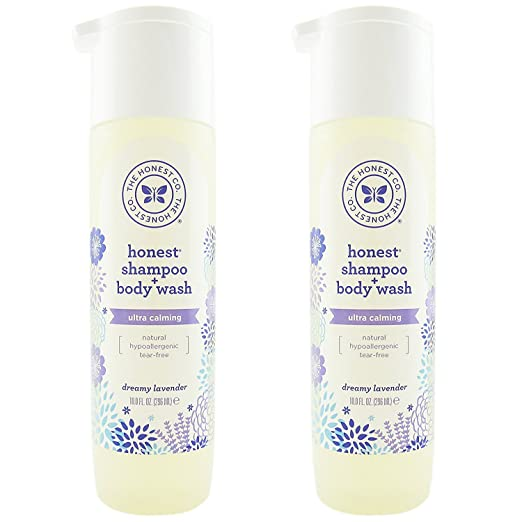 The Honest Company: Dreamy Lavender Scented Shampoo + Body Wash (10 oz) - Pack of 2