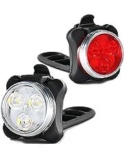 Luces de bicicleta recargables LED Set, Luces LED de bicicleta USB impermeable con batería recargable 650mAh recargable, Bicicleta LED de bicicleta Luces traseras de bicicleta LED para bicicleta