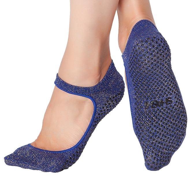 Shashi Sweet open Top antideslizante calcetines Pilates Barre Ballet Yoga danza: Amazon.es: Ropa y accesorios