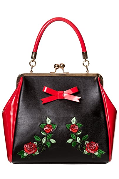 Amazon.com: Diseño Retro de la flor Rose Fantasía en rojo ...