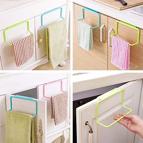 Kitchen Towel Rack - Kitchen Towel Holder - 1 Piece Portable Kitchen  Cabinet Over Door Hanging Towel Rack Holder Bathroom Hanger - Over-The-Door  Towel ...