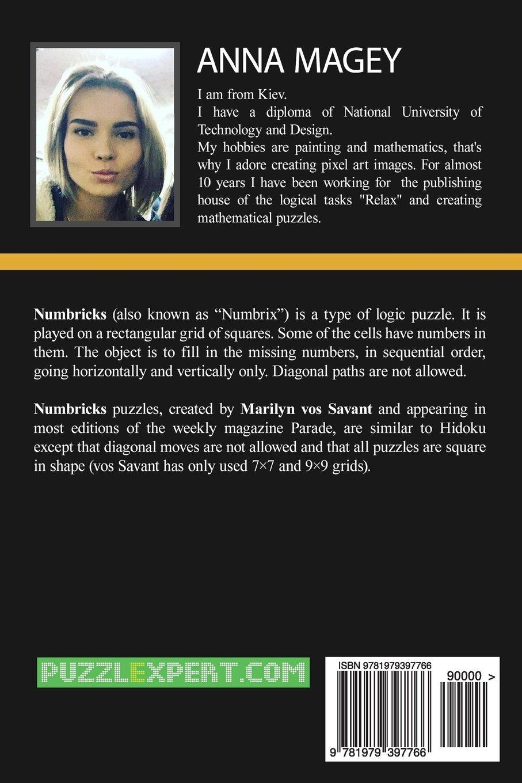 250 Easy to Medium Numbricks puzzles 9x9 (Volume 6): Anna Magey ...