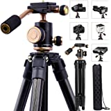 YoTilon Camera Tripod for DSLR, Portable Lightweight Travel Tripod for Camera, 360 Degree SLR Ball Tripods with 1/4 Plate for