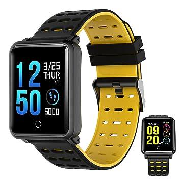OOLIFENG Reloj Inteligente, Fitness Tracker IP68 Impermeable Correr Reloj Con Pulsómetros, Deporte Podómetro Para Ios Y Android: Amazon.es: Deportes y aire ...