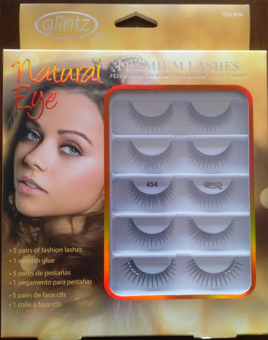 6e27e7dc89f Amazon.com: Glintz Premium Lashes 5 Pair with Eyelash Glue (795): Beauty