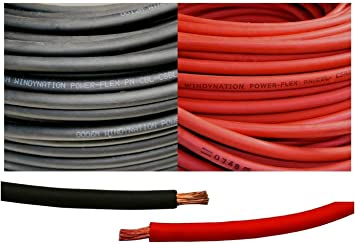 Inverter Car 4 Gauge 4 AWG 75 Feet Red Welding Battery Pure Copper Flexible Cable Wire RV Solar by WindyNation