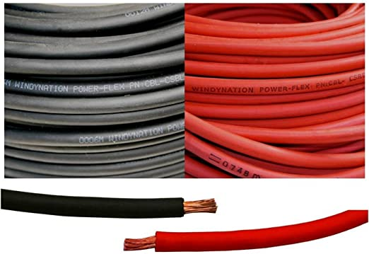 Length Each Battery Cable 4-Gauge Positive Red Top Post 56 in