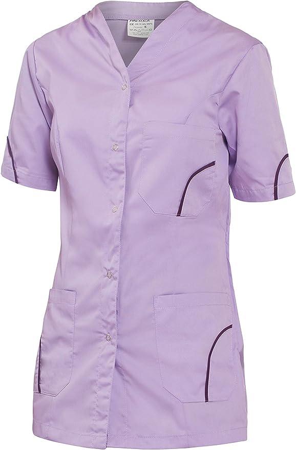 DINOZAVR Silvia Uniformi sanitarie Camice da Medico con Bottoni Automatici Medico Casacca da Donna