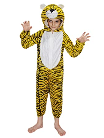 1e48644fc7 Buy KAKU FANCY DRESSES Kids Tiger Wild Animal Costume for Annual  Function Theme Party Competition Stage Shows Birthday Party Dress Online at  Low Prices in ...