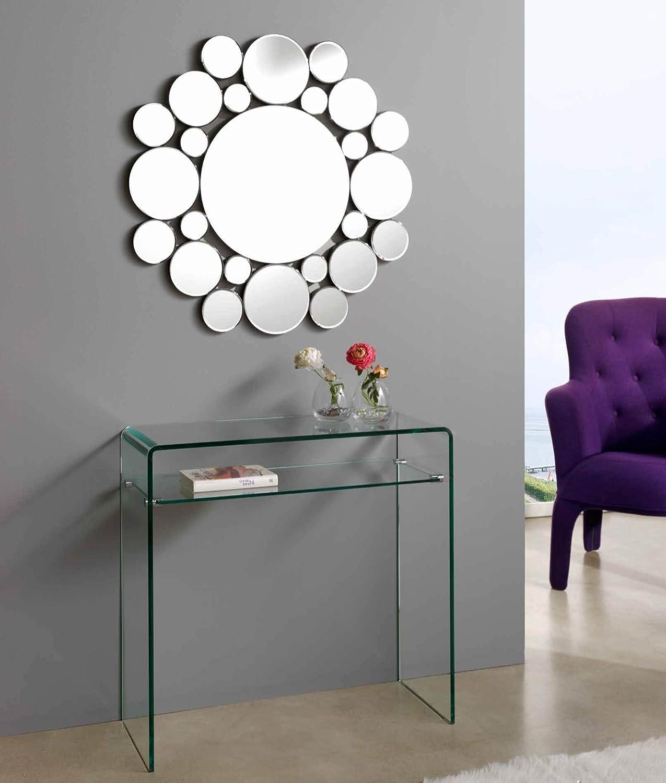 dugarhome espejos modernos cristal redondo ibergada
