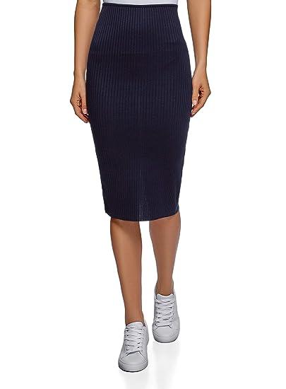 f99233f11 oodji Ultra Women's Ribbed Elastic Pencil Skirt at Amazon Women's ...
