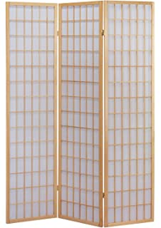 acme naomi 3panel wooden screen natural finish