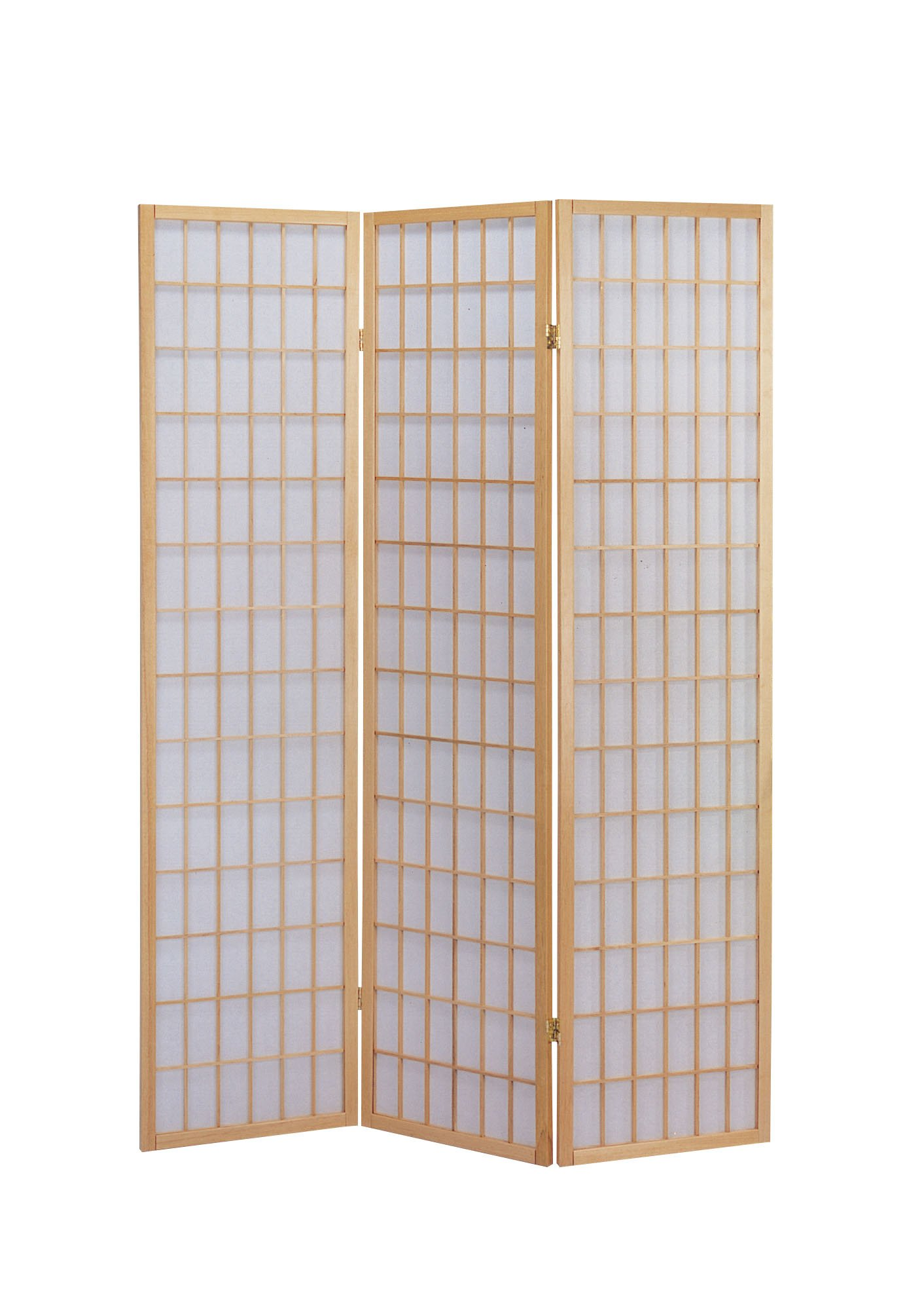 ACME 02285 Naomi 3-Panel Wooden Screen, Natural Finish by ACME