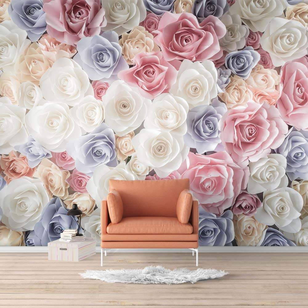 Wall26 Wall Mural Elegant Rose Flower Floral Photo Removable Self Adhesive Large Wallpaper 66x96 Inches Amazon Com