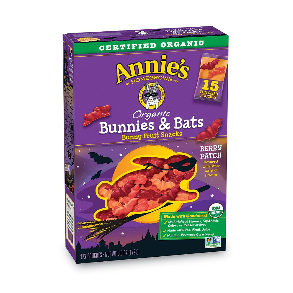 Annie's Organic Bunnies and Bats Berry Patch 15 Count Fruit Snacks, 6 Ounce