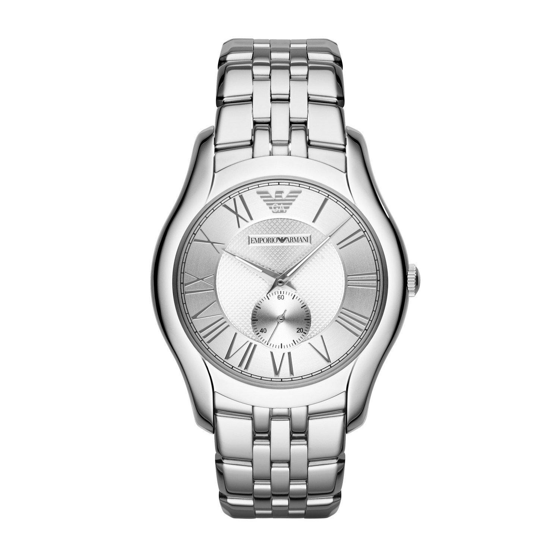 f9cc2e972193 Emporio Armani Valente - Reloj análogico de cuarzo con correa de chapada en acero  inoxidable para hombre