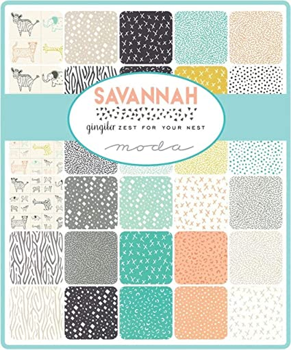 Moda Fabric Savannah Charm Pack: Gingiber: Amazon.es: Juguetes y ...