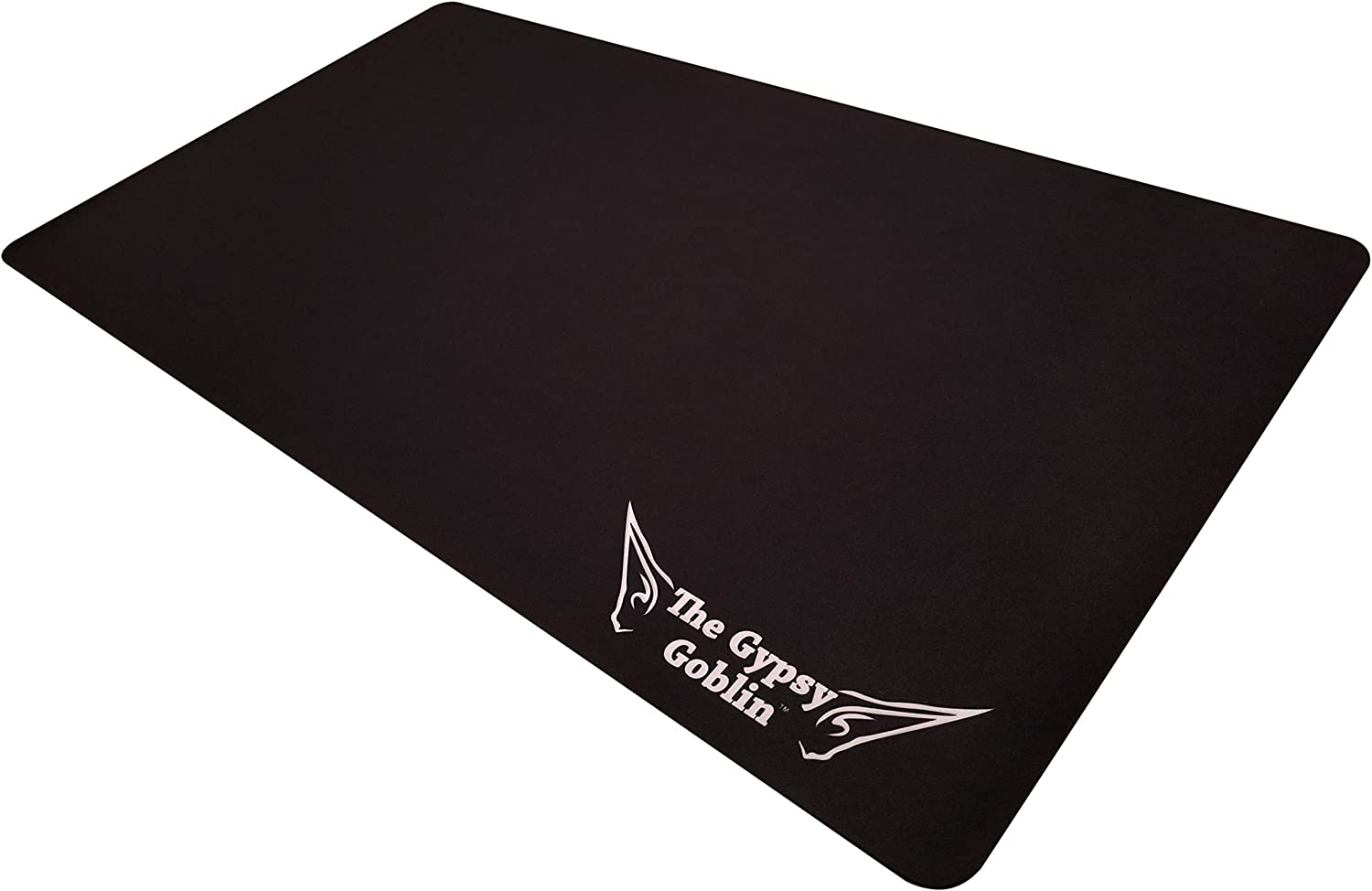 """The Gypsy Goblin Black MTG Playmat for Card Games - 24""""x13.5, Smooth Card Playing Mat Protects Your Cards & Table"""