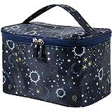 HOYOFO Makeup Bag Large Cosmetic Bags for Women Travel Makeup Organizer Case, Starry Sky