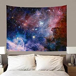 """TSDA Space Wall Tapestry,Tapestry Universe Galaxy and Tapestry Star Space Wall Hanging for Living Room Bedroom Dorm (79""""X59"""")(Gorgeous Starry Sky Tapestry)"""