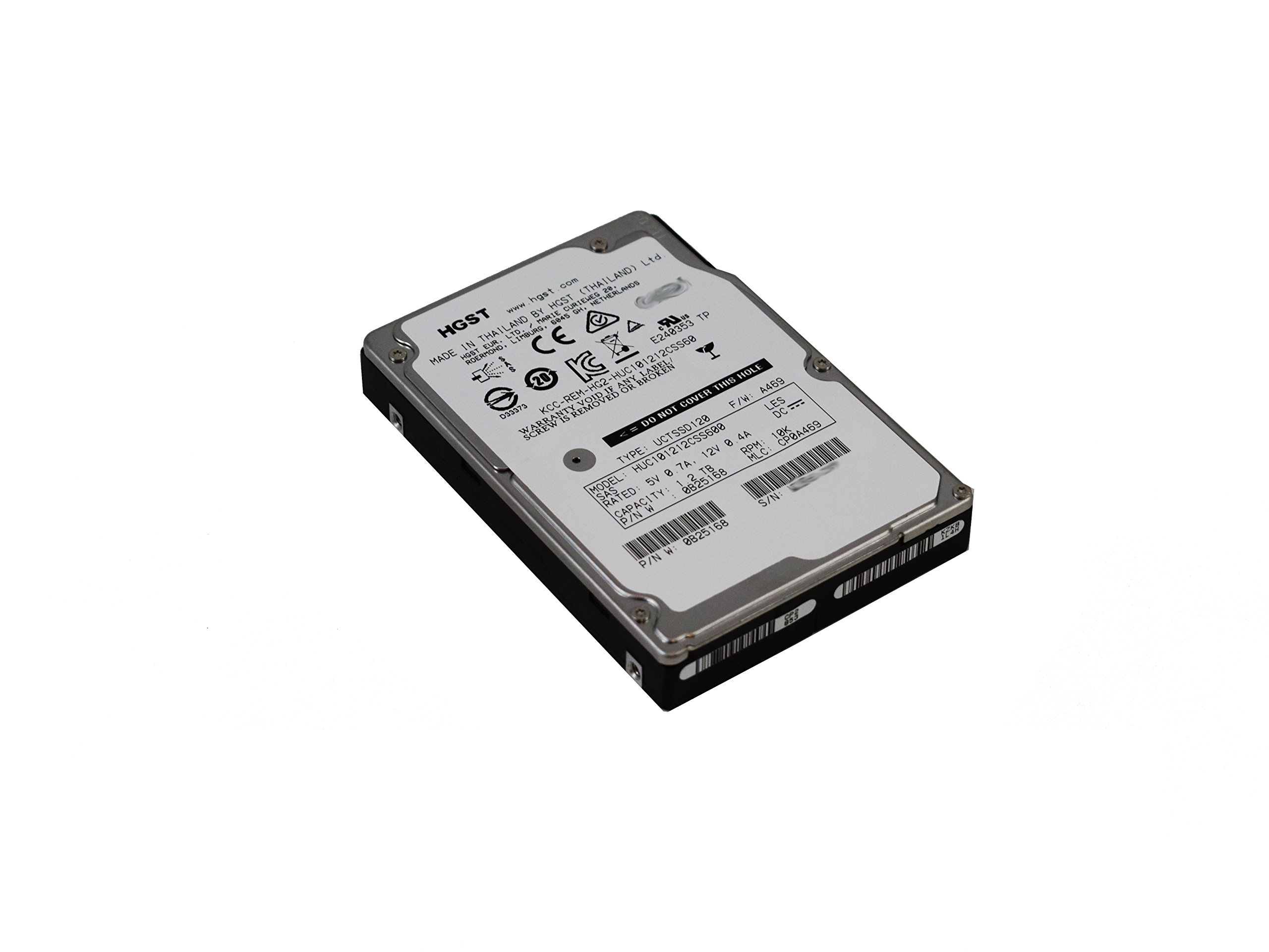 HGST Ultrastar HUC101212CSS600 0B25168 1.2TB 10K RPM SAS 6Gb/s 2.5'' SFF 64MB Cache Internal Enterprise HDD by HGST, a Western Digital Company