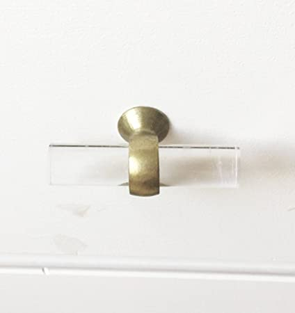 Bon Lucite Brass Cabinet Knob   Pull Handle Furniture Door Knobs And Pull  Handles Golden   Single