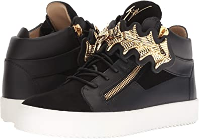 966bba085e682 Amazon.com | Giuseppe Zanotti Mens May London Gold Bar Sneaker | Shoes