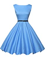 GRACE KARIN®Yafex Women's 50s Vintage Hepburn Swing Dresses 30Colors XS~3XL