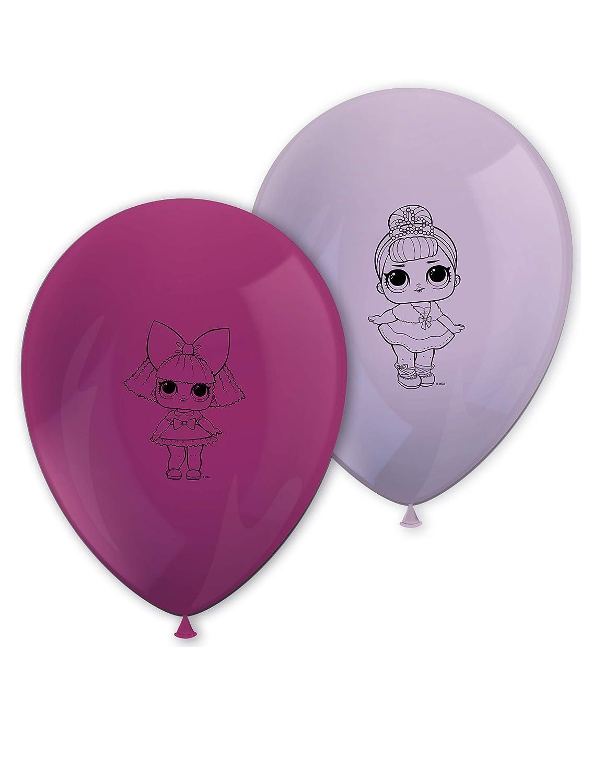 LOL SURPRISE Paquete de Globos para cumpleaños con Las Figuras de Las muñecas LOL Surprise (8 Unidades)