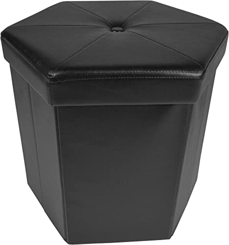 Achim Home Furnishings Collapsible Hexagon Storage Ottoman