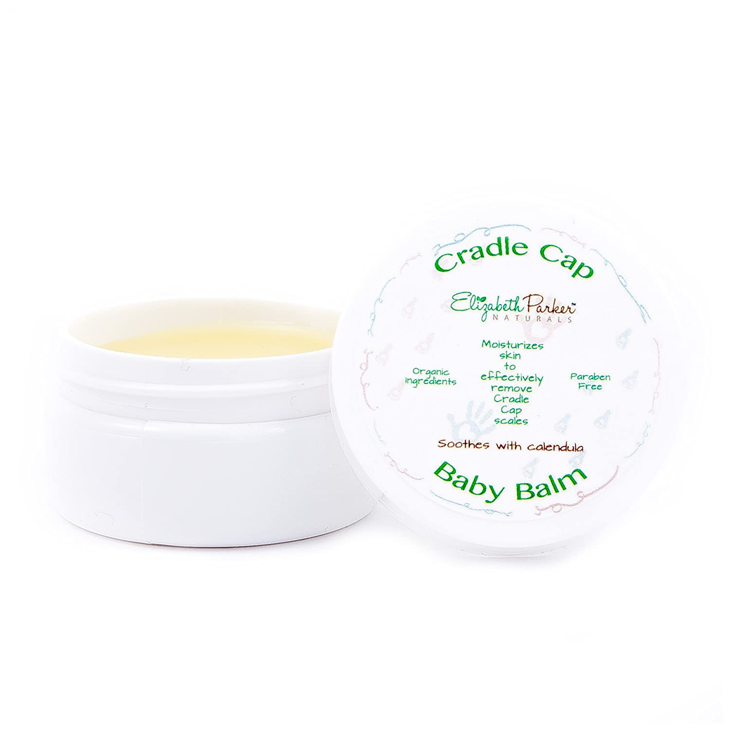 Cradle Cap Balm - Gently Remove Flakes and Scales with Essential Oils Elizabeth Parker Naturals