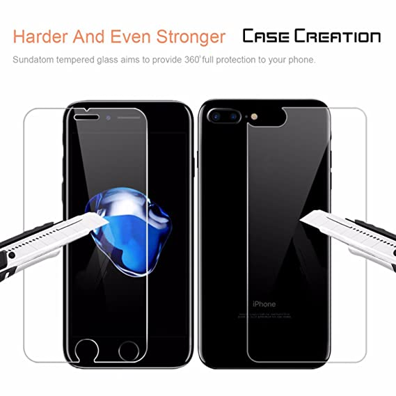 Case Creation trade; Front and Back Tempered Glass Screen Protector for Apple iPhone 8/Apple iPhone8 4.7  inch Cases   Covers