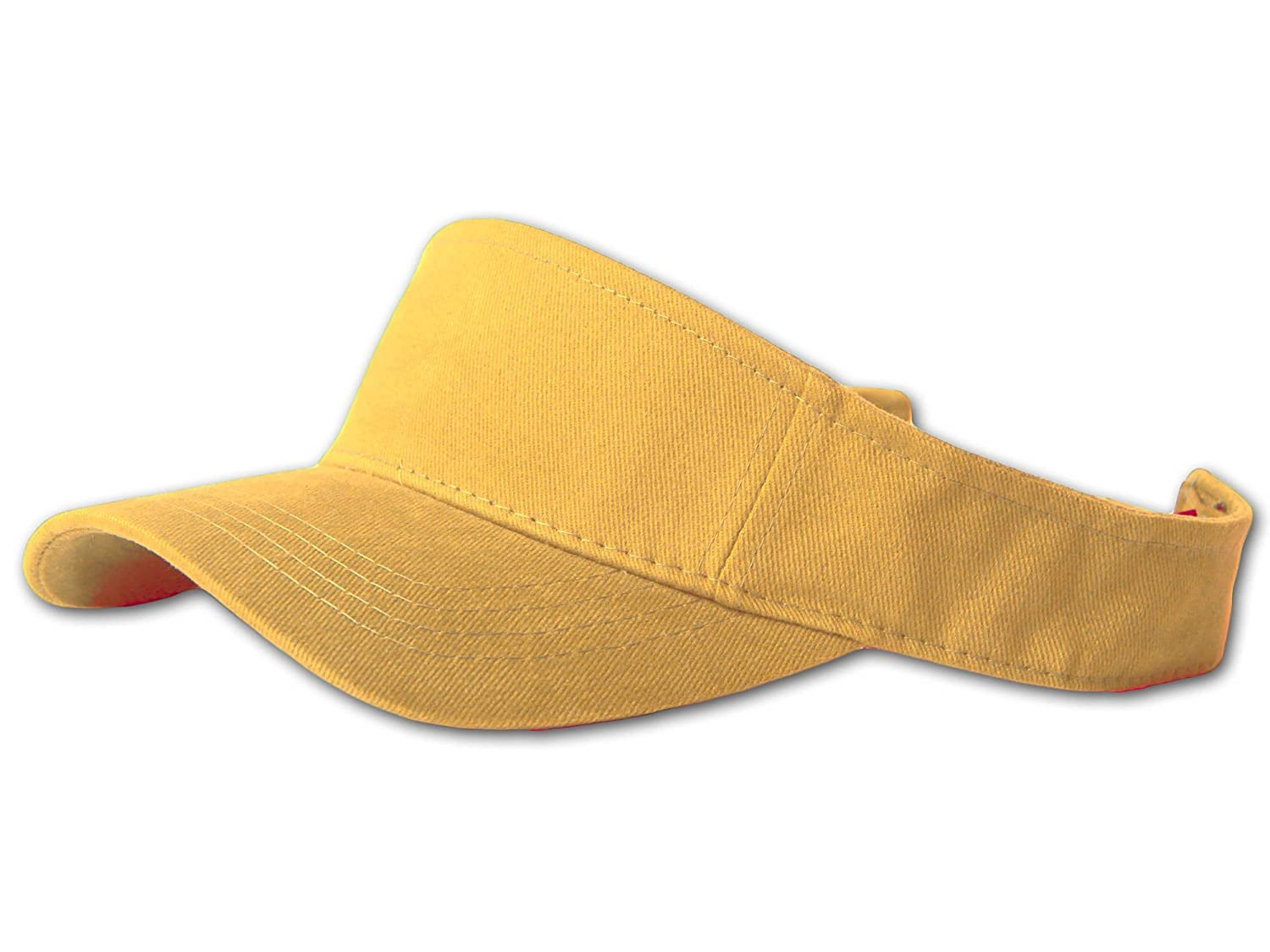 12 Lot (One Color) Visor Caps- Yellow