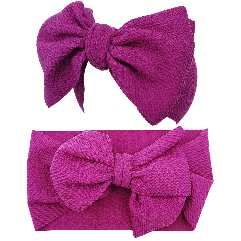 Baby Girl Bow Headbands Newborn Baby Turban Knotted Elastic Headwraps for Infant Toddler Hair Accessories HP04-6PCS