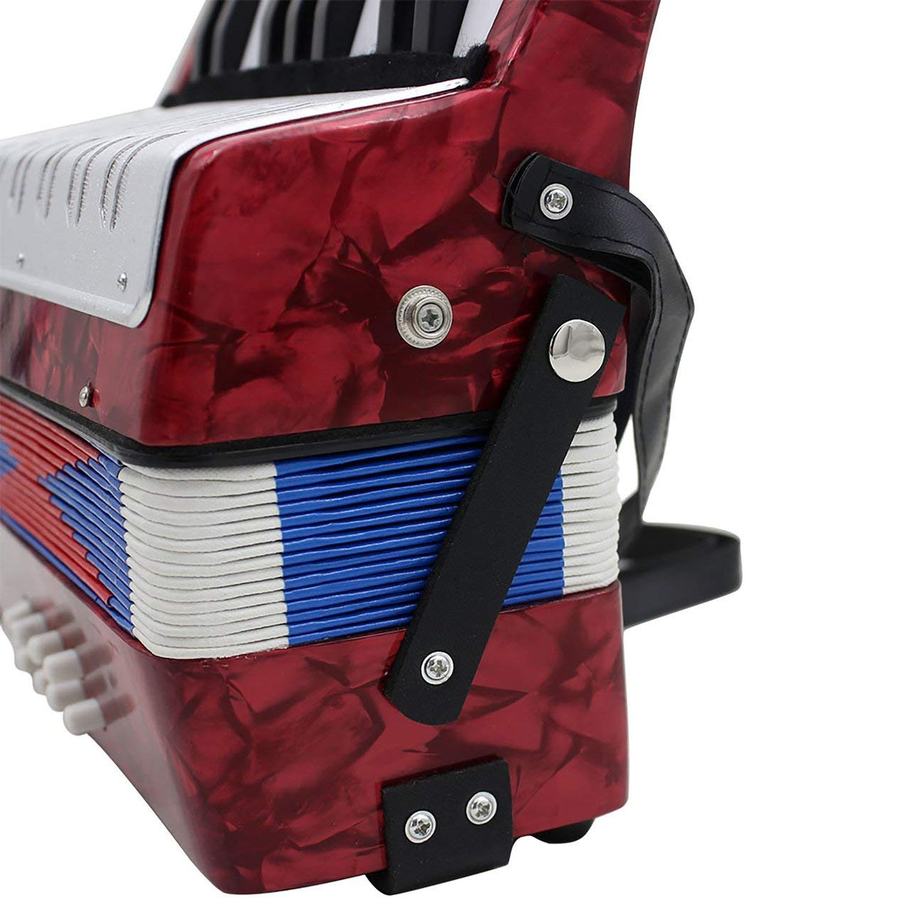 17-Key 8 Bass Accordion Musical Toy for Educational Musical Instrument Simulation Learning Concertina Rhythm by Fashinlook (Image #2)
