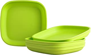 """product image for Re-Play Recycled Products Deep Walled Plates, Set of 4 (7.375"""" Deep Walled Plates, Green)"""