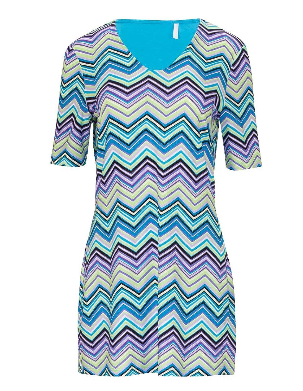 Rosch 1165682-10100 Women's Strandkleid mit Zick Zack Muster in Blau und Lila