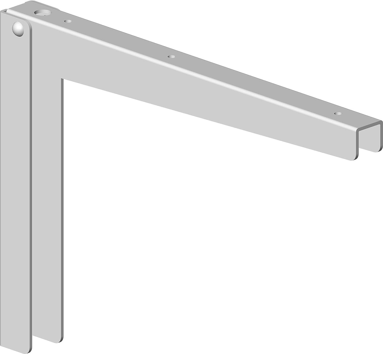 Element System 18133-00128 Klappkonsole Klapp//Regalkonsole//Regaltr/äger 2 St/ück 5 Farben//wei/ßaluminium 28 cm 2 Gr/ö/ßen